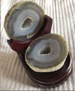 巴西 天然 聚寶盆 瑪瑙 風水 crystal agate