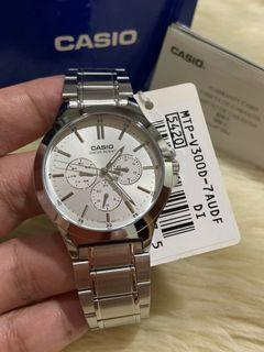 💯% Authentic Casio  MTP-V300 Watch