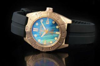 ARAGON A196MOP 大力神 青銅錶 藍寶石水晶 MD 50mm 附影片