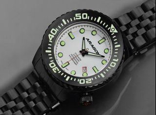 ARAGON A253WHT Divemaster EVO IP黑色 機械錶 50mm 附影片