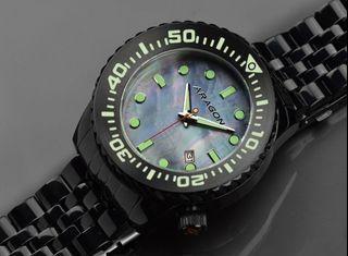 ARAGON A263MOP  Divemaster EVO IP黑色 機械錶 45mm 附影片