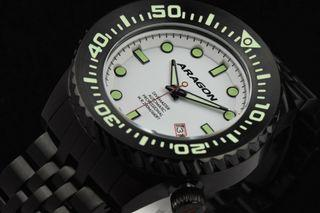 ARAGON A263WHT Divemaster EVO IP黑色 機械錶 45mm 附影片