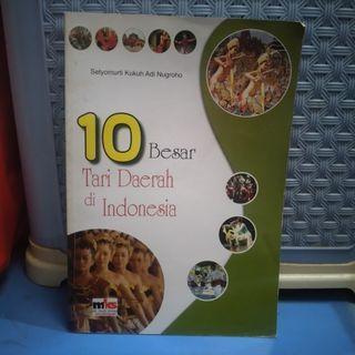 BUKU 10 BESAR TARI DAERAH INDONESIA PRELOVED BEKAS