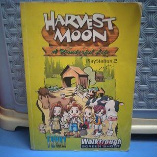 BUKU GAME HARVEST MOON A WONDERFUL LIFE PLAYSTATION 2 PS2 BEKAS PRELOVED