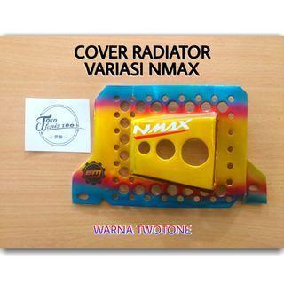 Cover Radiator Motor Yamaha NMAX Variasi CNC Warna TwoTone Pelangi Kualitas Terbaik