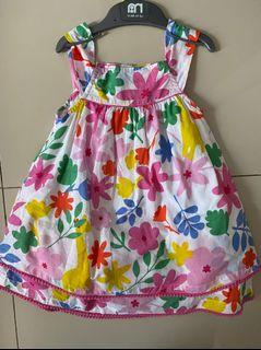 DRESS FLOWER ANAK WITH FURING