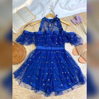 Fairy Mesh Navy Blue Romper