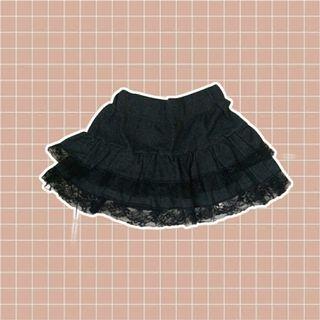 gothic lace mini skirt