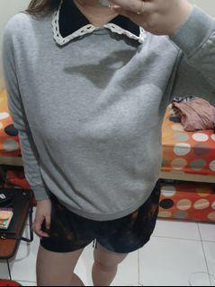 Grey Collar Sweater