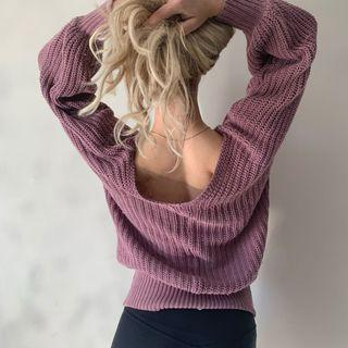 Guess Knit Summer Sweater in Burgundy