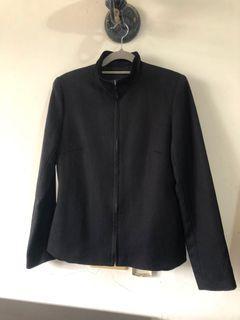 IF天絲棉黑色立領簡約外套