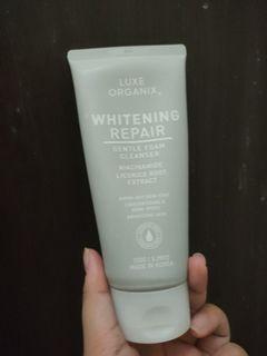 Luxe Organix whitening repair cleansing foam