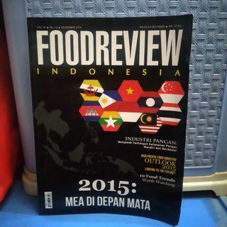 MAJALAH FOODREVIEW INDONESIA 2014 MEA DI DEPAN MATA PRELOVED BEKAS
