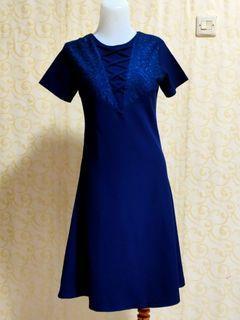 Midi dress biru