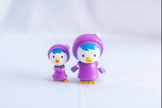 Preloved mainan anak mini figure Pororo