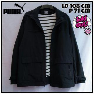 Puma Sporty Jacket Jaket Parasut Hoodie Hitam|Tags: Coat Outer Sweater Blazer Cardigan Jaket Thrift
