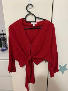 Red Crop Top/size s