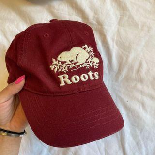 ROOTS maroon baseball cap