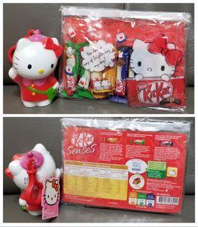 Sanrio Hello Kitty HK Kt 06+19' =$25/2件 (全新, 不散賣, 夾鏈袋13x18cm但朱古力已過期)