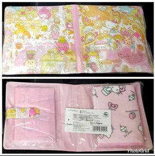 Sanrio Hello Kitty HK Kt 2017 毛巾 紙巾 套裝 $35 (全新, 包包高13cm)
