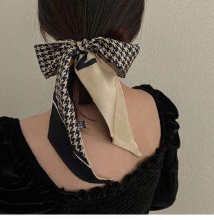 Spring silk scarf