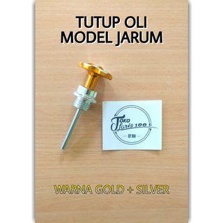 Tutup Oli Variasi Jarum Warna Gold Silver EM Racing Motor Honda Yamaha Drat Kasar New Original