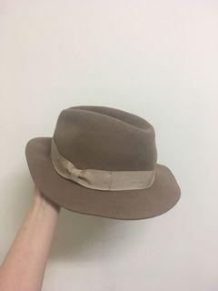 Uniqlo 聯名 ines 羊毛卡其帽/紳士帽
