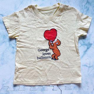 Uniqlo Curious George Kids Shirt