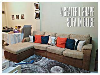 URGENT SALE   4 Seater L Shape Sofa