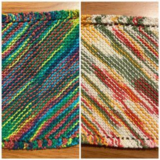 Knitted dish cloths
