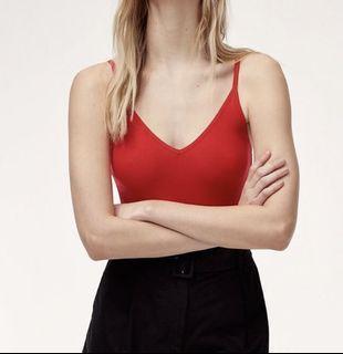 Aritzia Red Bodysuit