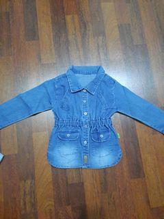 Atasan jeans lengan panjang anak 3 tahun