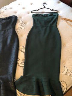 *BNWT* black&green dresses, size M