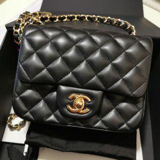 (99%New 連單) Chanel mini square flap bag sf cf 17cm 方