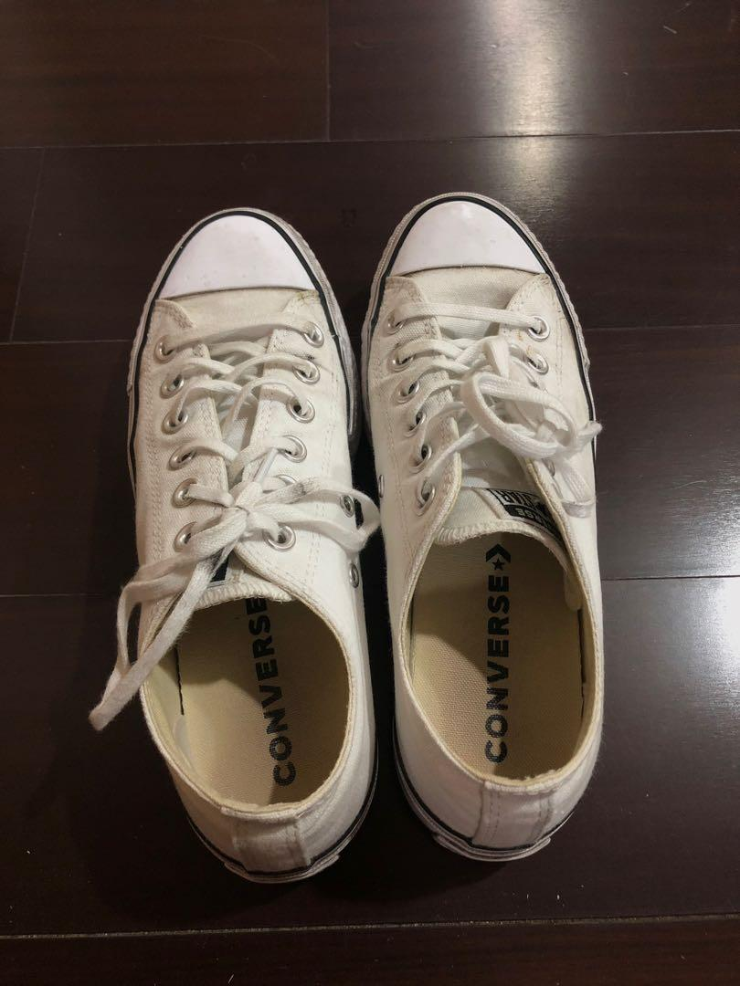 Converse  ALL STAR LIFT 厚底白色帆布鞋