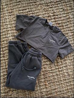 Dark Grey sweat set