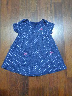 Dress anak 9 bulan biru polkadot