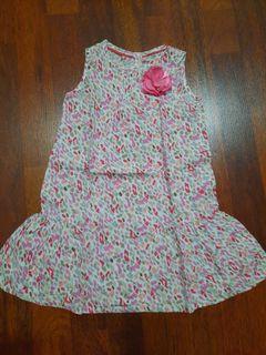 Dress bunga anak 1-1.5 thn