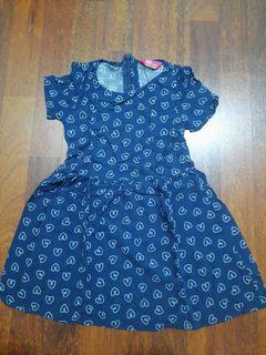 Dress love biru anak 3 tahun