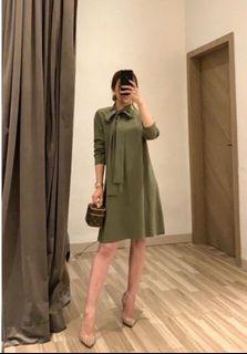 Goulding Olive Dress