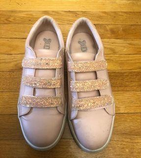 Kids Pink Glitter sneakers