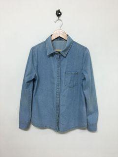 Queen Shop 牛仔襯衫外套 Women's Denim Shirt