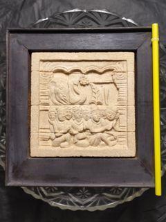 Relief batu authentic borobudur