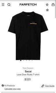 Authentic Streetwear Sacai Graphic T-Shirt