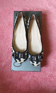 Staccato Leopard Flat Shoes