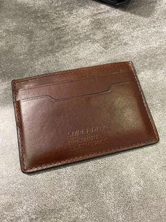 Superdry Premium Leather Card Holder Wallet Brown