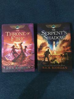 The Throne of Fire and Serpent's Shadow English Hardcover