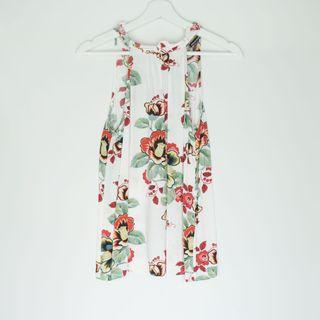 WAREHOUSE halter neck with floral prints
