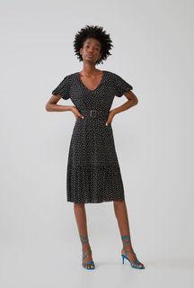 Zara Belted Polka Dot Dress