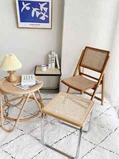 [全新] 北歐風編織實木矮凳換鞋玄關客廳房間置物邊桌茶几